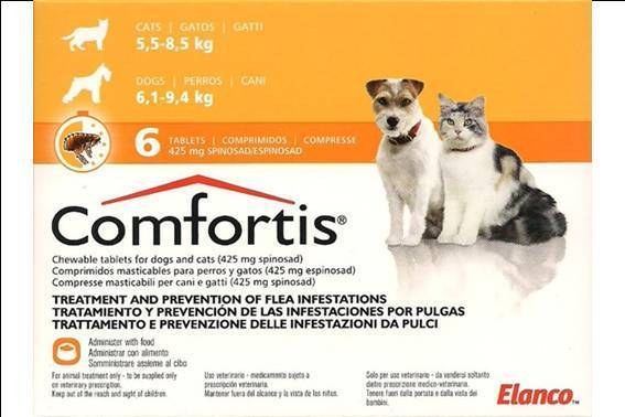 comfortis flea pill for dogs. Comfortis Dog \u0026 Cat Tablets 425mg X 6 Flea Pill For Dogs