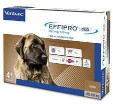 Effipro Duo Spot-On For Dogs (Extra Large 40-60kg Pack Of 4)
